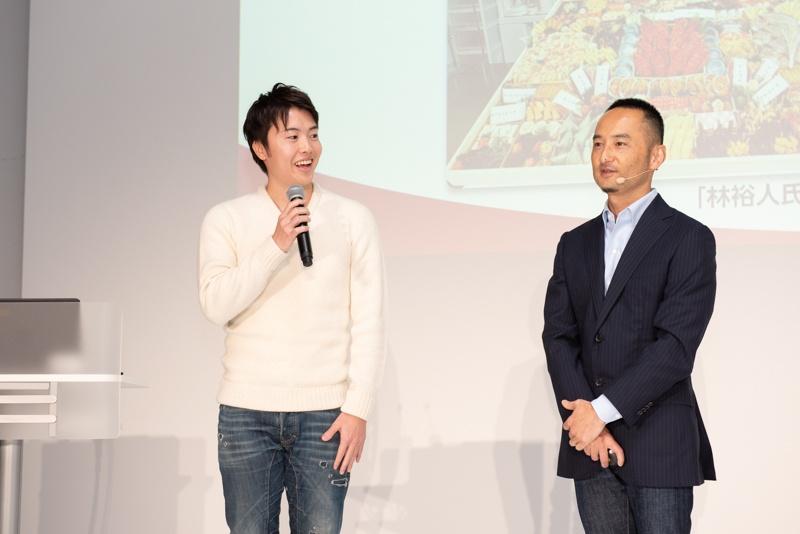 動画クリエイターのMasuoTV氏(左)、アマゾンジャパンの鈴木浩司氏(右)