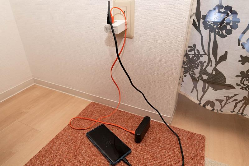 USB ACアダプターのポート向きは上or下になる