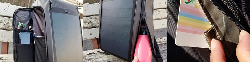 バックパックの外側も、すぐにアクセスできるポケット類が豊富。どれもよく考えられて配置されている