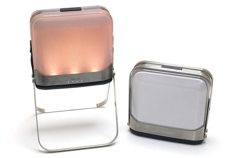 LEDランタンであり、Bluetooth接続したスマートフォンから調光などができ、モバイルバッテリーにもなるという製品です。