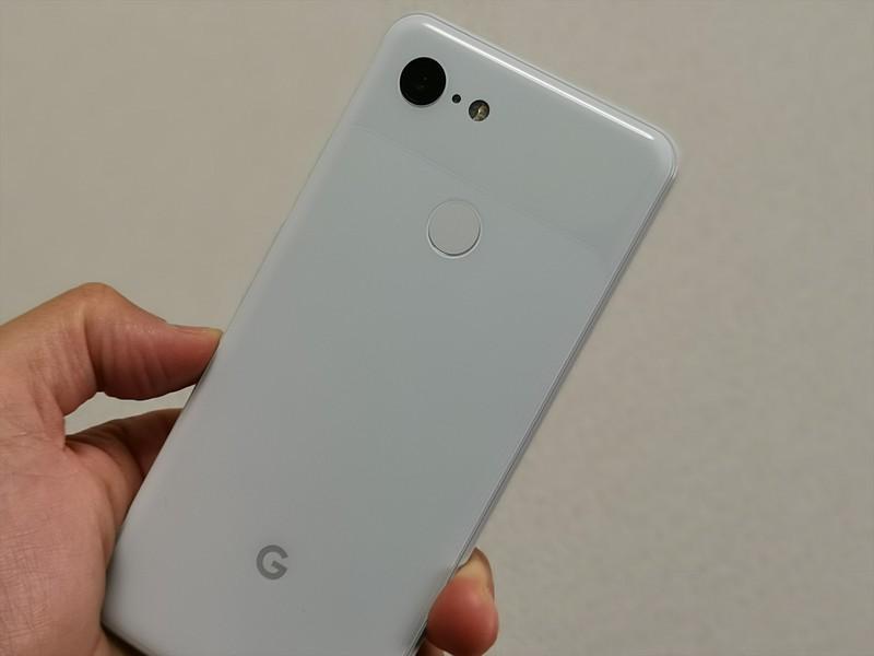 Google Pixel 3は指紋認証に対応(顔認証非対応)