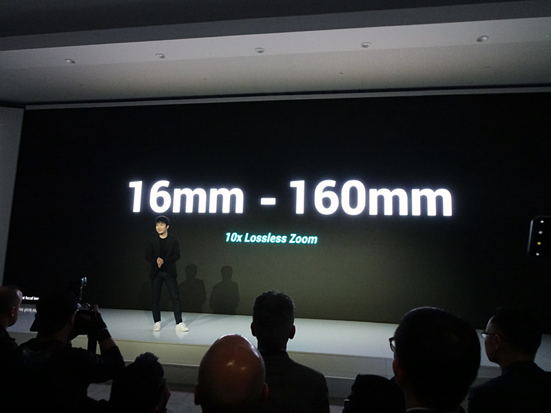 トリプルレンズで、15.9mmから159mmまでをカバーする