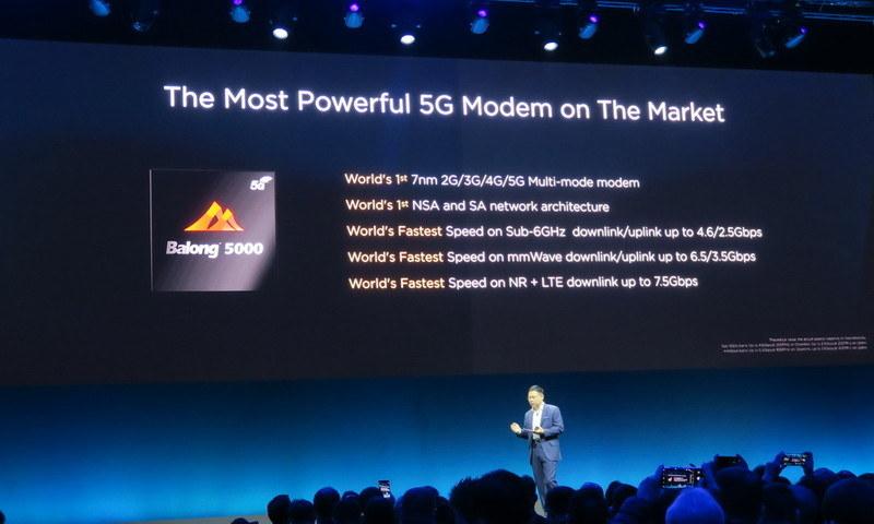 同社製の5G対応モデム「HUAWEI Balong 5000」を搭載