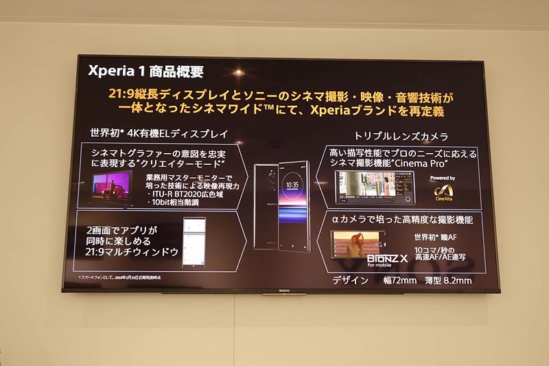 Xperia 1の概要。ソニーならではのこだわりが詰まっている