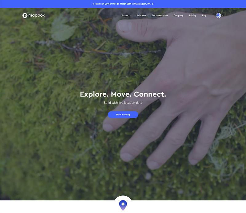 MapboxのWebサイト