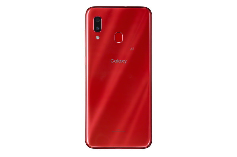 「Galaxy A30 SCV43」レッド