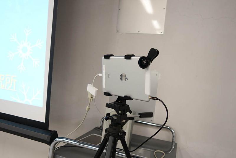 テレビ電話のデモにはiPadが使われていた