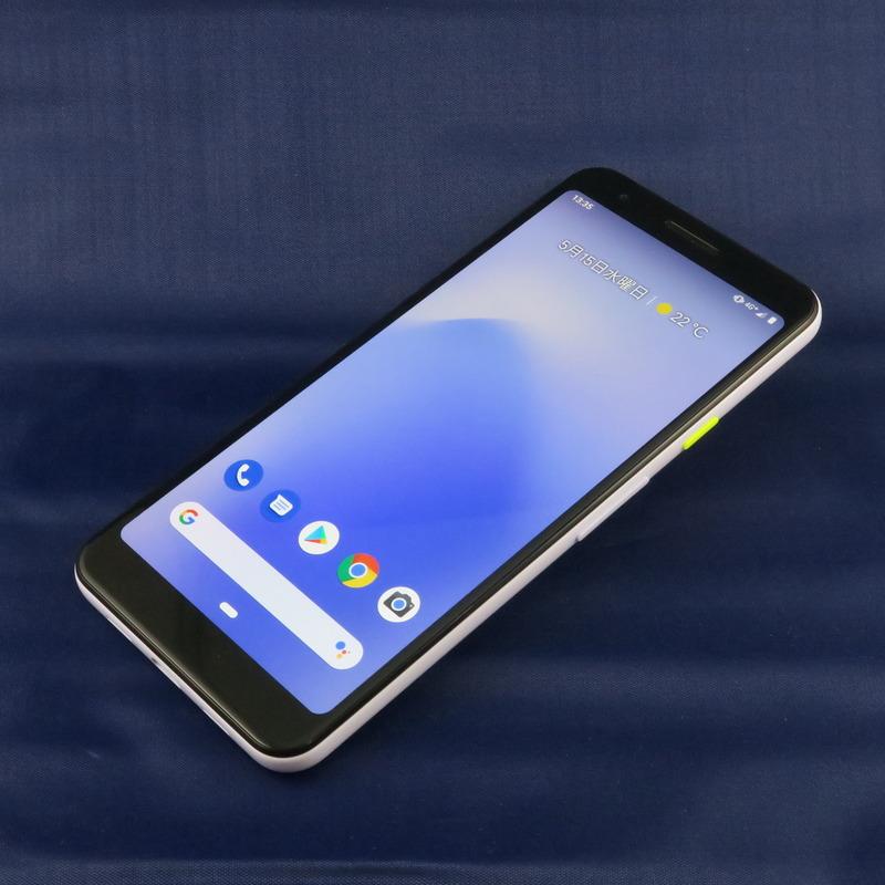 Google「Pixel 3a」、151.3mm(高さ)×70.1mm(幅)×8.2m(厚さ)、約147g(重量)、Purple-ish(写真)、Clearly White、Just Blackをラインアップ