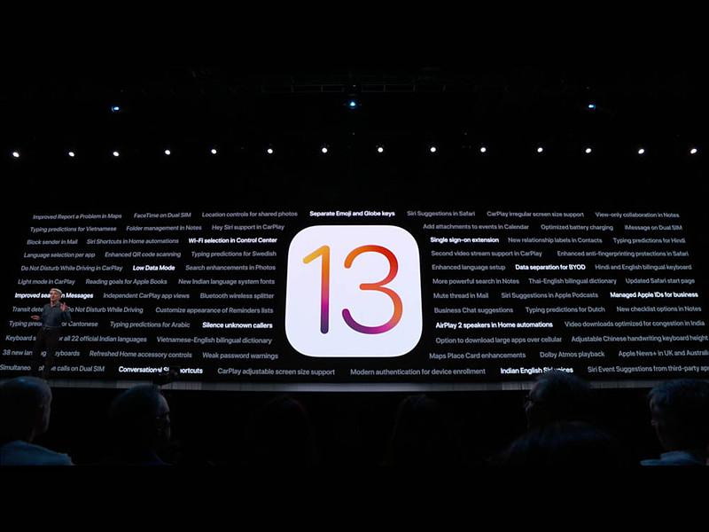 iOS 13での多くの新機能たち