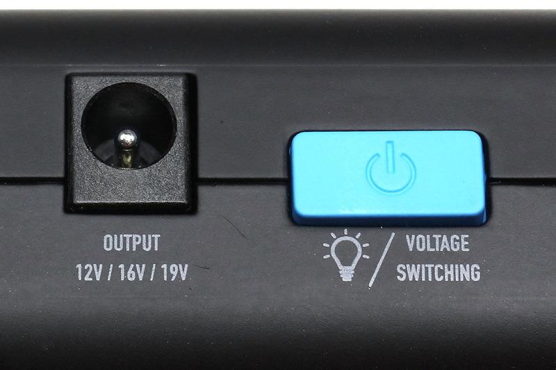 3年くらい前に購入したジャンプスターター。クルマやバイクのバッテリーが上がってしまってエンジンがかけられなくなった時、これをバッテリー端子につなぐと車両のスターターが回ってエンジンがかかるという電源です。USB出力ポートがあってスマートデバイスへの充電も可能。DCジャックから出力される電圧は12V/16V/19Vに切り替えられます。