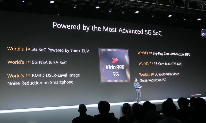 IFA 2019の基調講演でも説明された5G対応のKirin 990を搭載