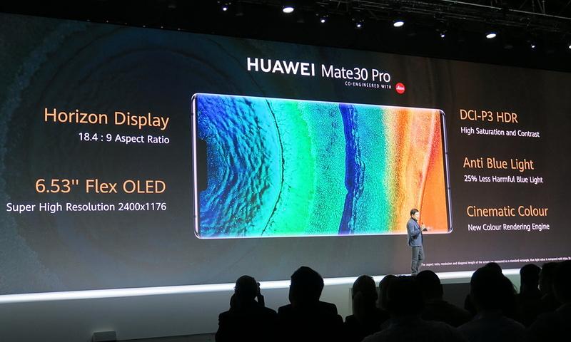HUAWEI Mate30 ProはフルHD+対応6.53インチ有機ELディスプレイを搭載