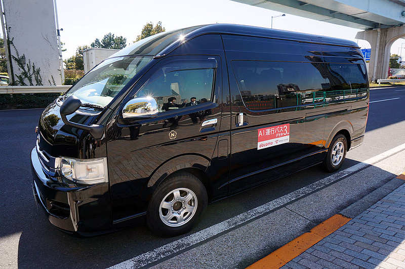 AI運行バス(2017年3月の実証実験にて撮影)