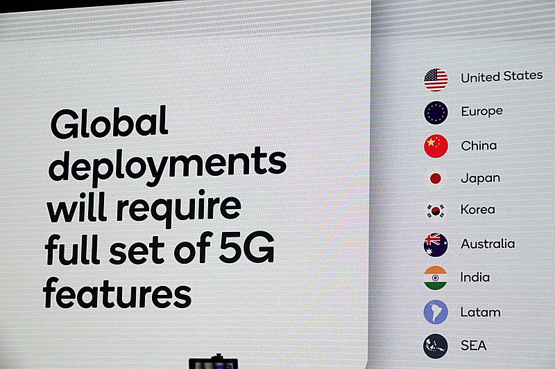 各国の5G周波数/方式と導入時期の状況