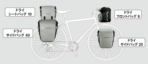 Tern Vektron S10にパニアバッグ(サイドバッグ)を装着したという話。モンベルから自転車用の汎用パニアバッグが発売されていますが、「ドライ サイドバッグ 20」という小さめのバッグがVektronにマッチするんです。