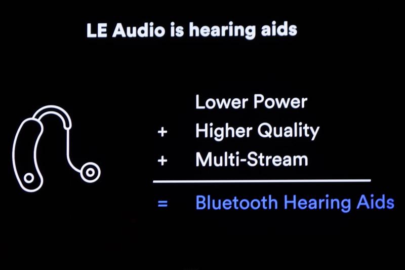 補聴器への対応。スマート補聴器はCESでも年々増えつつある分野でもある