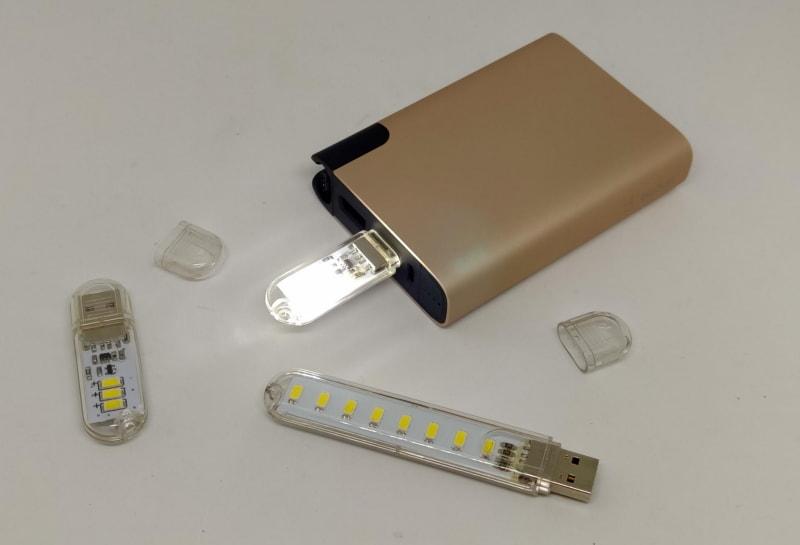 深夜に余ってるスティックLEDライト と USBモバイルバッテリー でLED充電器を作ってみた