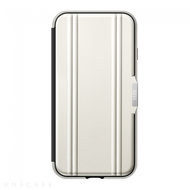 【iPhoneSE(第2世代)/8/7ケース】ZERO HALLIBURTON Hybrid Shockproof Flip Case for iPhoneSE(第2世代)(Silver)