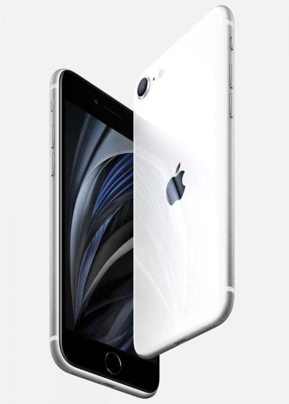 iPhone SE(第2世代)。外見はiPhone 8までと似ている