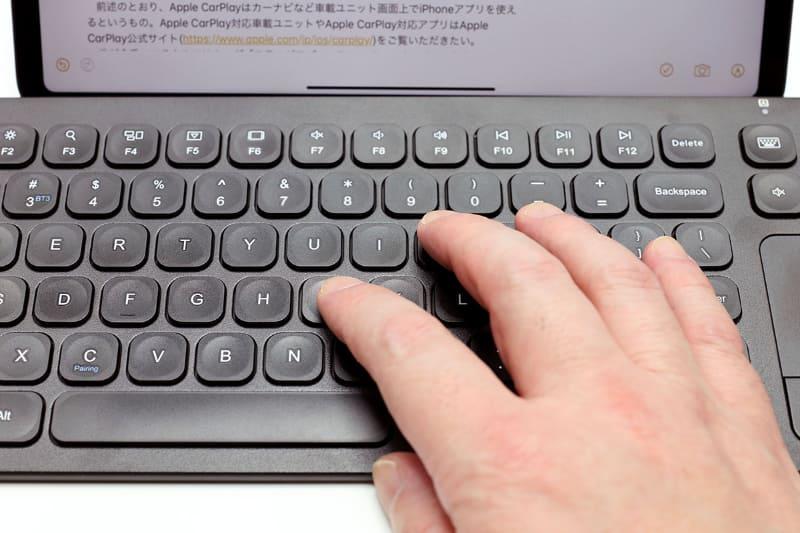 """なかなかの""""しっかり感""""があるキーボードですな。打鍵感もわりあい心地よい。全体的にコストパフォーマンスが高いキーボードという印象となった"""