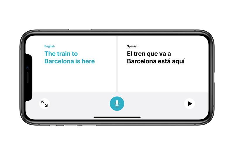 会話モードでは左右に翻訳内容を同時表示