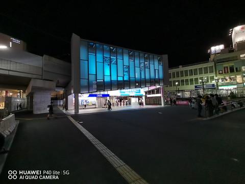 超広角カメラで夜の風景を撮影