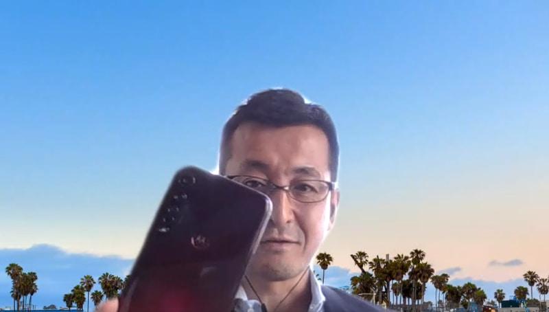 松原氏が今愛用するスマホはg8 plus