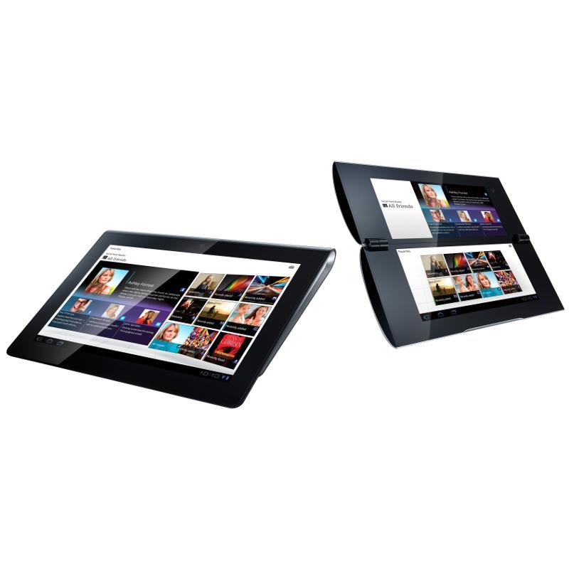 (左から)「Sony Tablet S」「Sony Tablet P」