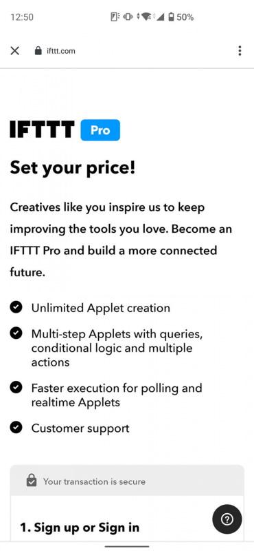 10月7日までは、ユーザーの「言い値」で月額料金を設定可能