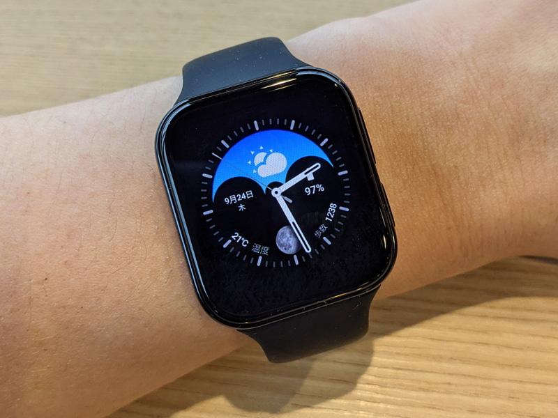「OPPO Watch(41mm)」のブラックバンドモデルを購入しました