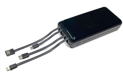 そしてズギャーン!!! 充電用のType-Aプラグ(の中身だけのヤツ)付きケーブルも内蔵!!! つまりはコレをType-Aレセプタクルコネクタ(パソコンとかのType-Aポートですな)につなげば充電可能!!! これで給電用ケーブルも充電用ケーブルも必要ないゼぇ〜!!!