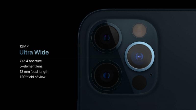 iPhone 12 Proの超広角カメラ(スペックはiPhone 12と同じ)