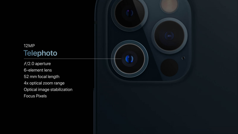 iPhone 12 Proの望遠カメラ