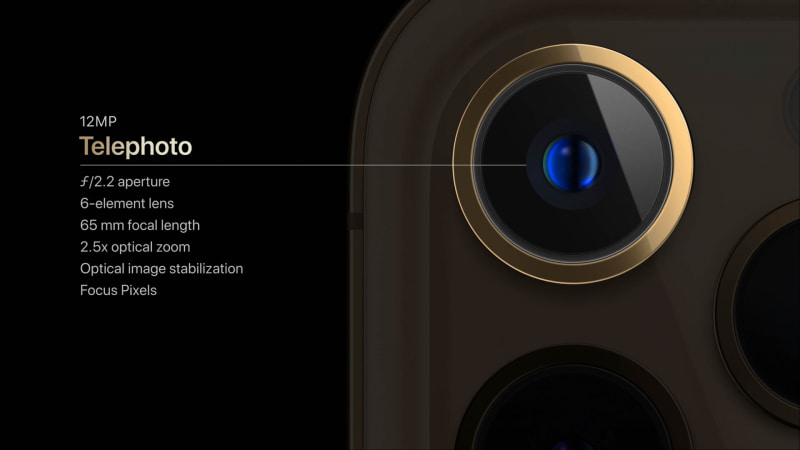 iPhone 12 Pro Maxの望遠カメラ