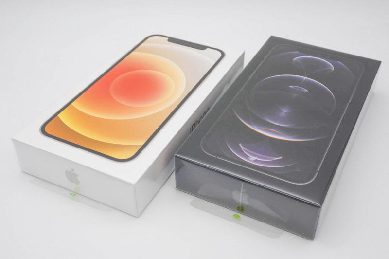 iPhone 12シリーズでは同梱品からイヤホンと電源アダプタがなくなり、箱が薄型化した
