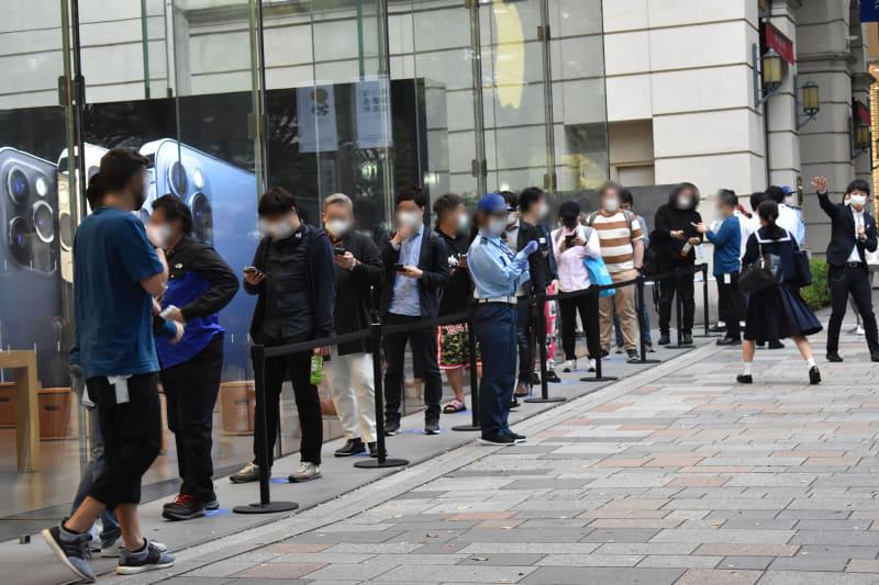 開店直前でも、8時に予約できたユーザーが10人ほど列を作るのみ