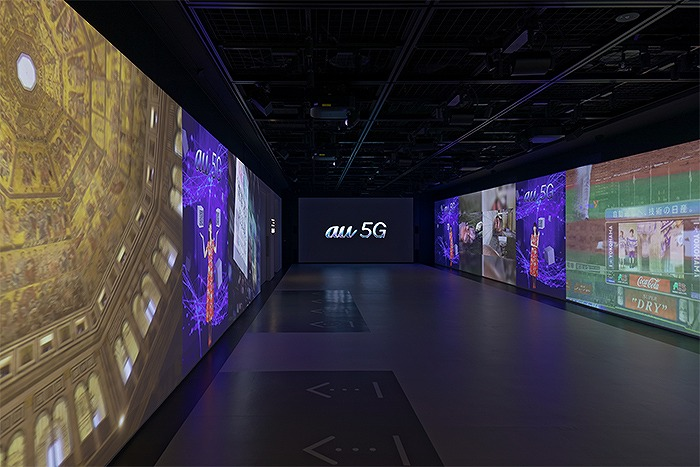 「GINZA 456」地下1階の「AUGMENTED Experience」