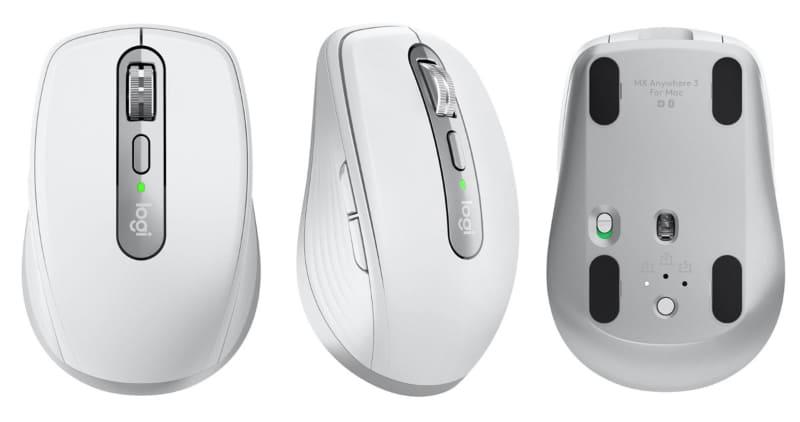 ロジクール「MX Anywhere 3 for Mac」は、「MX Anywhere 3」シリーズのうちMacに最適化されたモデルで、MacとのBluetooth接続安定性がカスタマイズされているとのこと。対応OSはmacOSとiPadOS。カラーはペイルグレーのみで、ロジクール オンラインストア税込価格は1万780円。