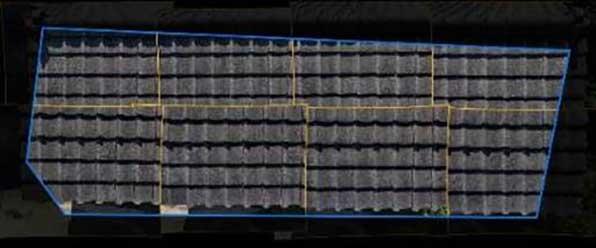 Skydio 3D Scanで作成された二次元合成画像