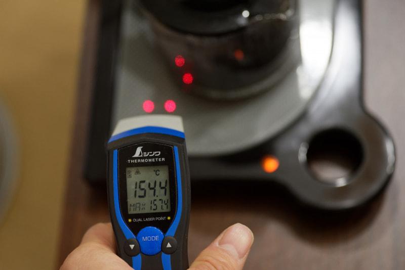ちなみに表面温度は150度を超えるようだ。触ると普通にやけどする熱さだが、これくらいじゃないとスープや鍋物の温めには力不足かも