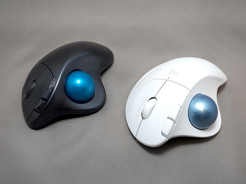 前モデル・M570との比較。サイズ感はほぼ変わらず、ボールがシルバー寄りの青に変わっている