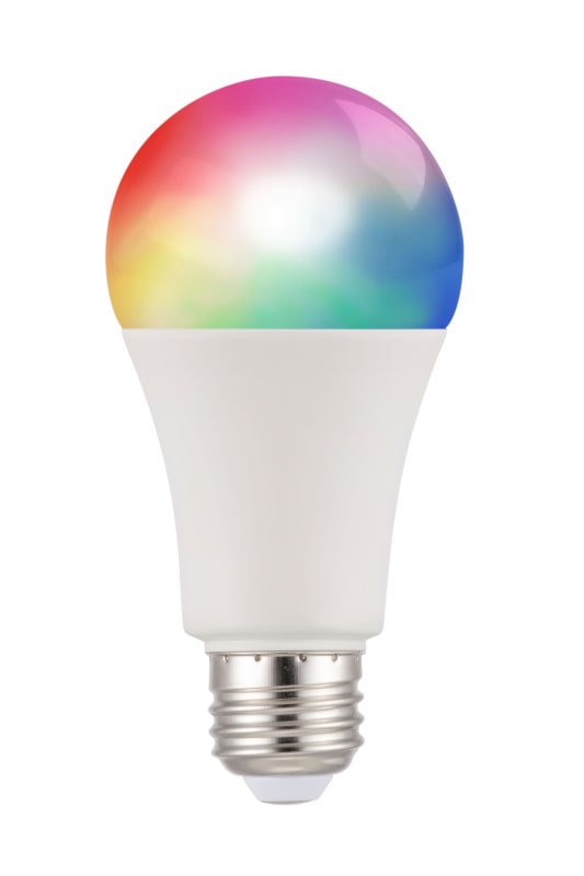 「スマートLED電球(人感)」(左)と「スマートLED電球(RGB調色)」(右)