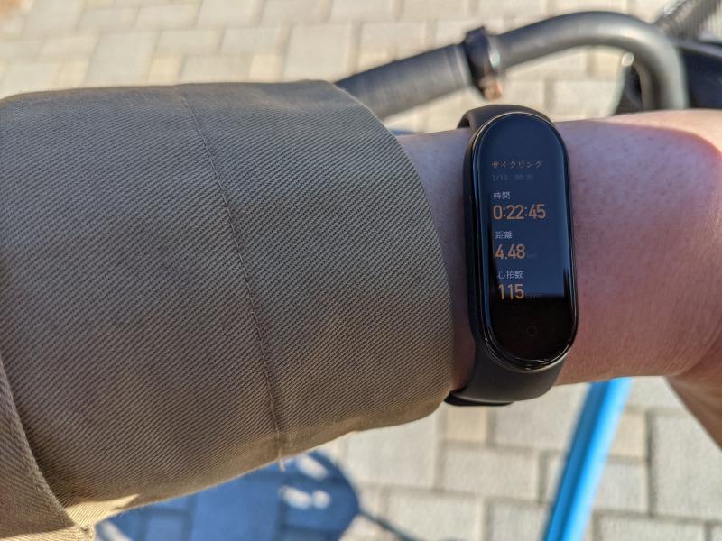 自転車(ママチャリ)で20分ほど、距離にして4キロほど走りました。ひぃはぁ、ひぃはぁ