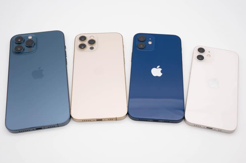 iPhone 12シリーズ4モデル。iPhone 12 Pro Maxはカメラ端末として旅行とかには持ち出すつもりだったが、旅行に行く機会がない……