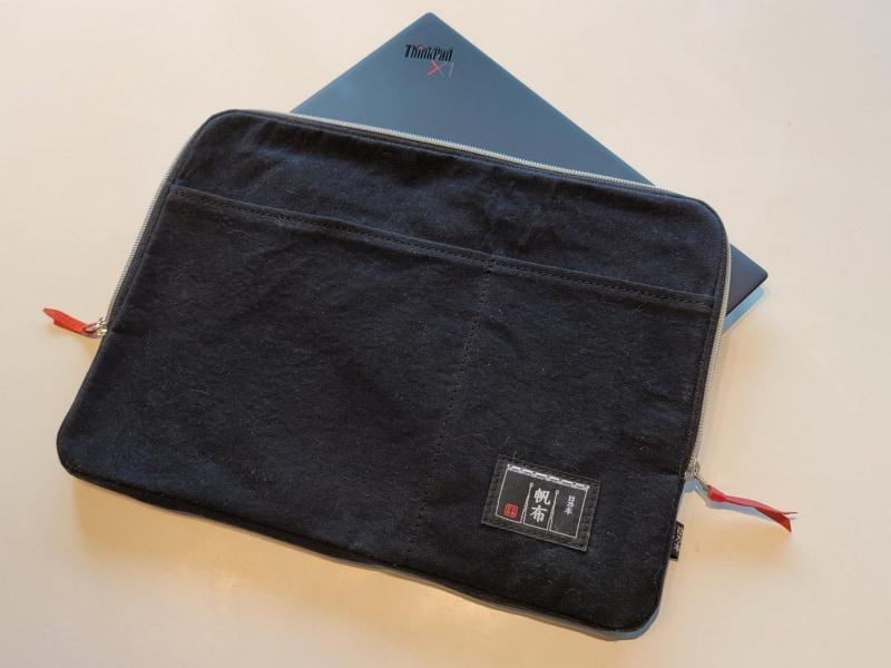 軽量なThinkPad X1 nano用に軽量な日乃本帆布製のパソコンブリーフケースを買った