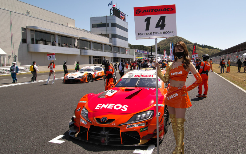 NTTコミュニケーションズ(NTT Com)がテクノロジーパートナー契約を締結したルーキーレーシングの14号車 ENEOS X PRIME GR Supra(大嶋和也/山下健太組)