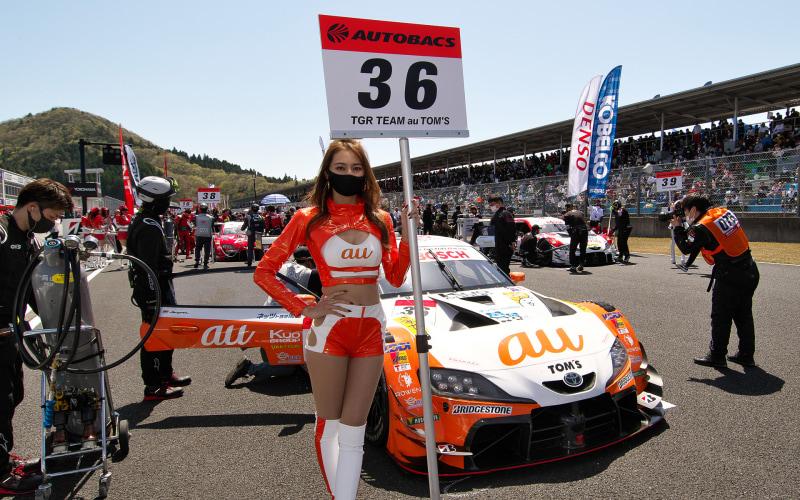 強豪チームとしておなじみ、auの36号車 au TOM'S GR Supra(関口雄飛/坪井翔組)
