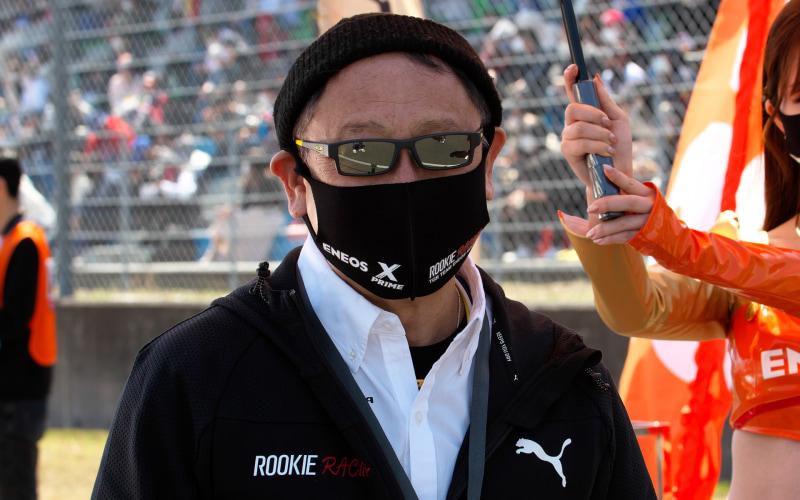 ルーキーレーシングのオーナーである豊田章男氏もサーキットに姿を現わした