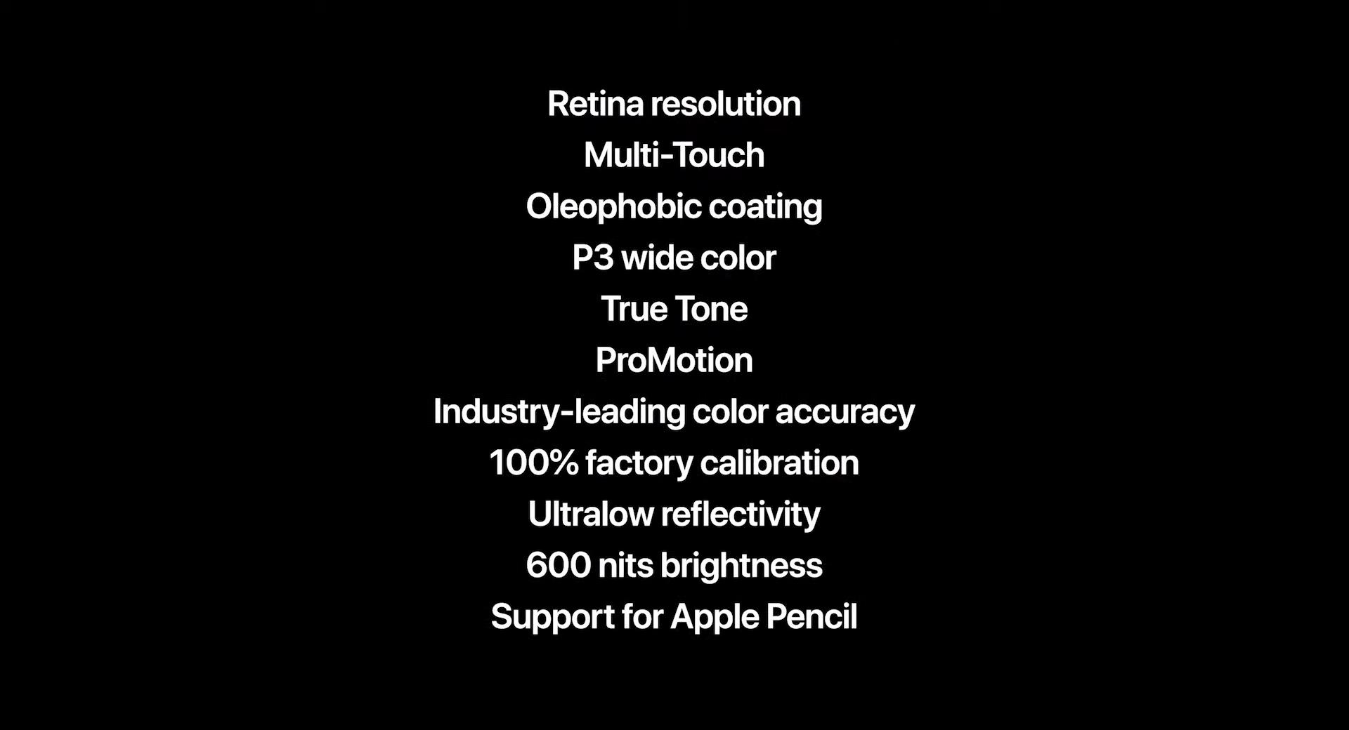 11インチモデルのLiquid Retinaディスプレイのスペック