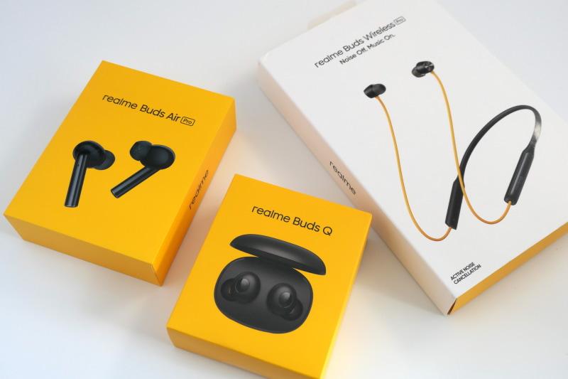 4月15日にrealme Buds Q(3480円)とrealme Buds Air Pro(1万3800円)を発売。5月以降にrealme Buds Wireless Pro(9980円)を発売予定。Buds Q以外の2モデルはノイズキャンセリング機能を搭載している。